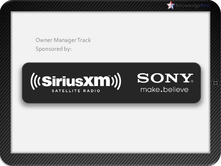 Owner Manager TrackSponsored by: