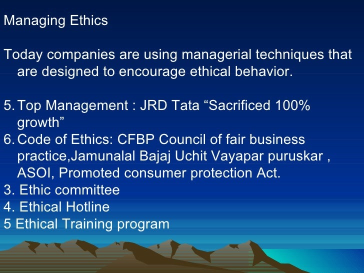 Code of Ethics in Telecommunications