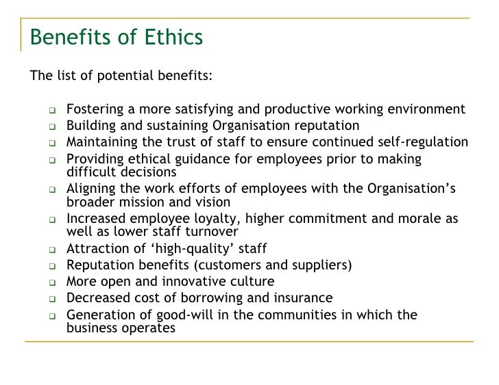 the business ethics and the potential workflow in an appropriate working environment Appropriate to its culture and  have the potential to save  paper reduction confirm that what is good for business can be good for the environment business.