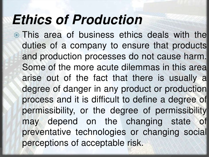 is it ethically acceptable for companies Top ten dos and don'ts for us companies nearly every us company has internal ethical rules of risk to an acceptable level knowing your company's.