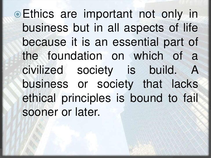 Related Disciplines<br />Business ethics should be distinguished from the philosophy of business, the branch of philosophy...