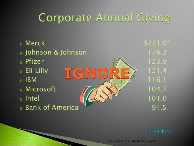 o   Merck                                        $221.0*o   Johnson & Johnson                             176.2o   Pfizer ...