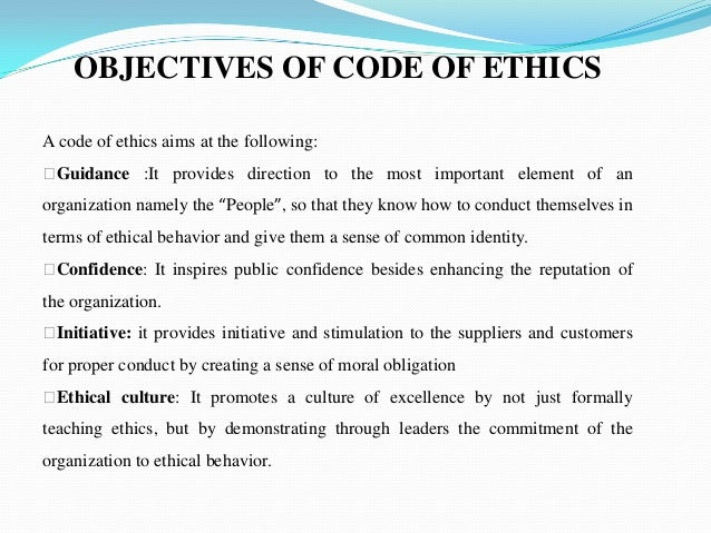 how to write a code of ethics How can the answer be improved.