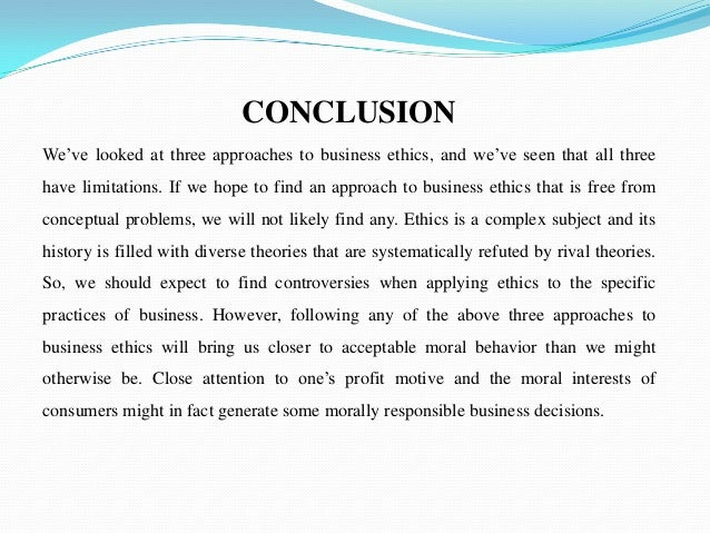 Business ethics