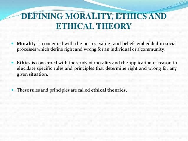 Elucidating define ethics