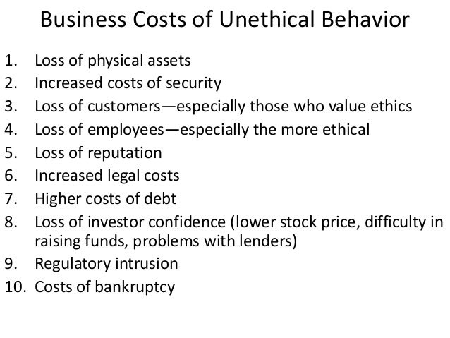 unethical behavior in accounting Aamir et al, 2014 in accounting practice financial information is only focusing on budgeting, forecasting and making decisions and counting information which is the main event in which ethics is applied.