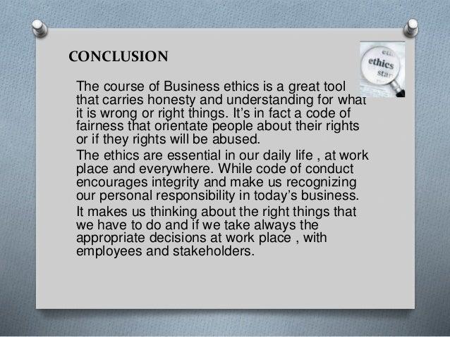 Thesis in business ethics