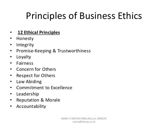 "modern principles of business ethics Introduction 'ethics commonly means rule or principles that define right and wrong conduct it may be defined as: ""ethics is a fundamental trait which one adopts and follows as a guiding principle of basic dharma in one's life."