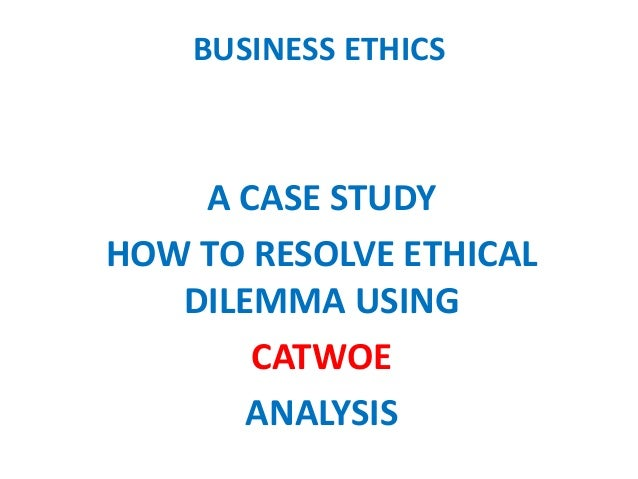 Analysis or current ethical dilemma in
