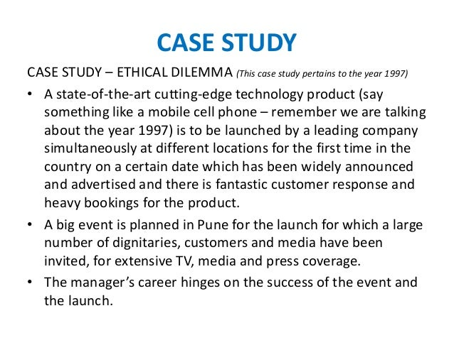 business ethical dilemma cases
