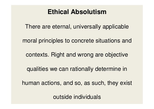 Essays on moral absolutism