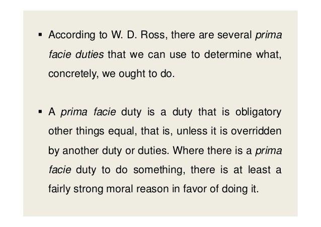 7 prima facie duties examples