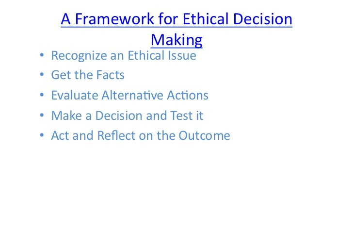"badaracco ethical analysis framework If your memo addresses the badaracco framework and the legal issues, remember the badaracco framework is intended to be used to analyze a certain kind of problem, specifically a ""right versus right"" problem identify the stakeholders and determine whether some are more important than others."