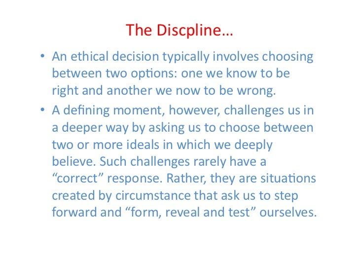 the discipline of building character by joseph badaracco jr Develop ahs talent through a focus on self-leadership and  badaracco,  joseph l jr the discipline of building character boston: harvard.