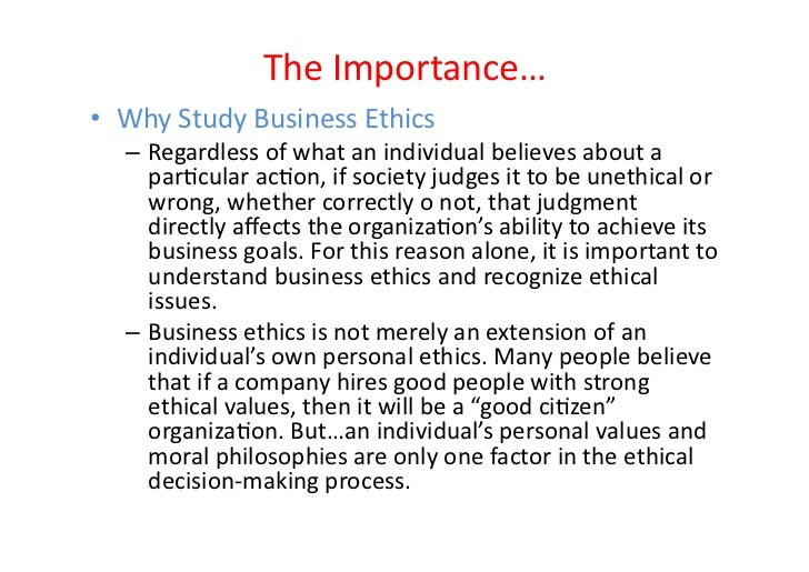 Business Ethics Study Guide #1 Introduction - Chris Tweedt