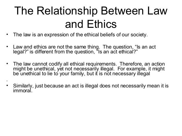 The relationship between business ethics and