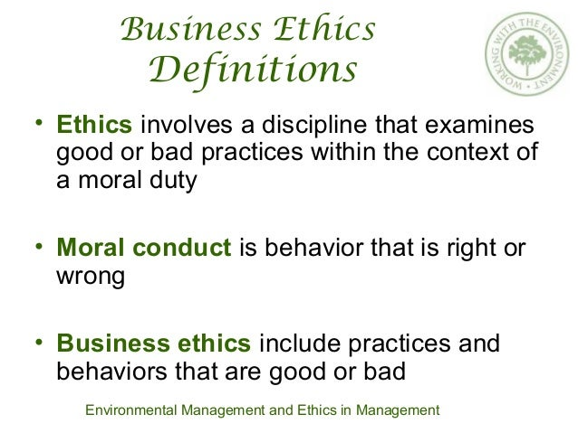 business ethics and corporate governance Business ethics | corporate governance chapter provides an insight into the subject of ethics and business ethics many philosophers have expressed different views about ethics but they all agree that, in essence ethics deals with what is right or wrong similarly the term business is defined as a primary economic institution through which.