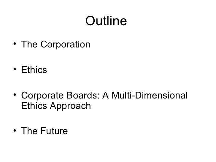ethics and governance Corporate governance is concerned with holding the balance between economic and social goals and between individual and communal goals.