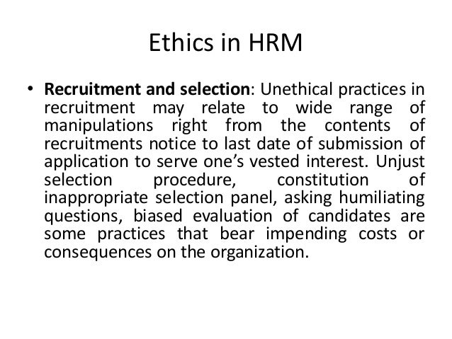 procedure manual for recruitment and selection