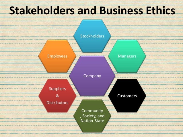 governing stakeholders and business ethics essay Corporate governance, business purpose on its governing board (who are stakeholders in the theory in stakeholder theory and organizational ethics.