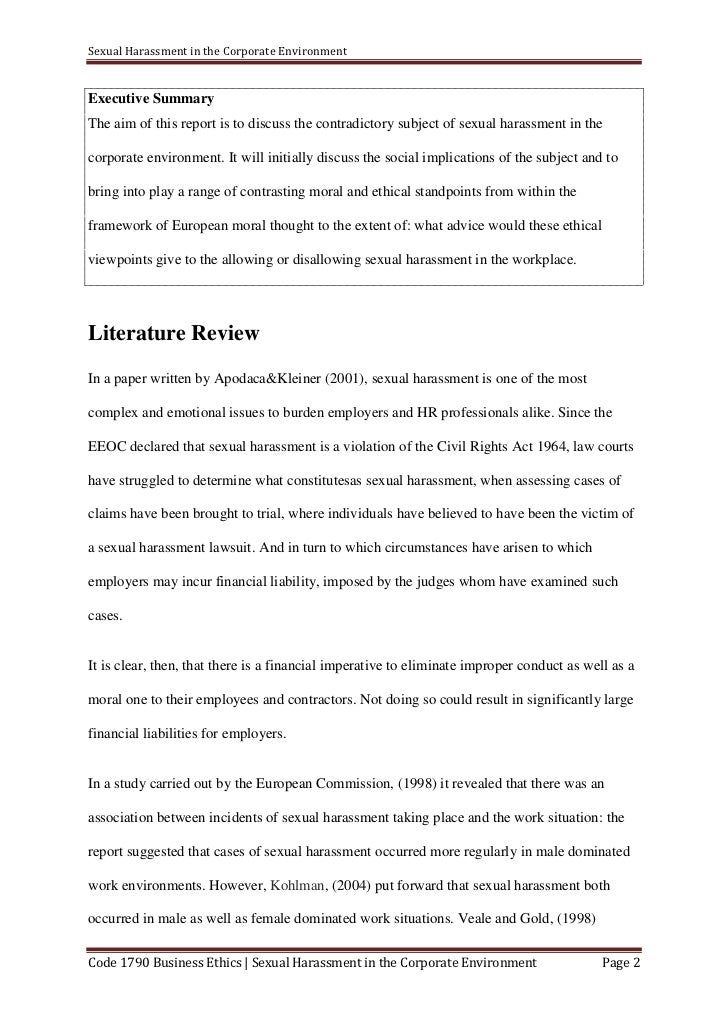 What Is Thesis In Essay Sexual Harassment  Example Of Proposal Essay also Examples Of Proposal Essays Business Ethics Assignment Buy An Essay Paper