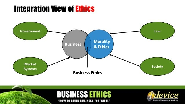 Morality and ethical framework