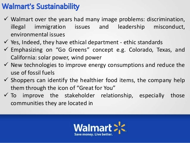 solutions for walmart ethical problems Walmart accepted clothing from banned bangladesh factories jun 17, 2013 | business ethics potential problem: walmart's approach of publishing.