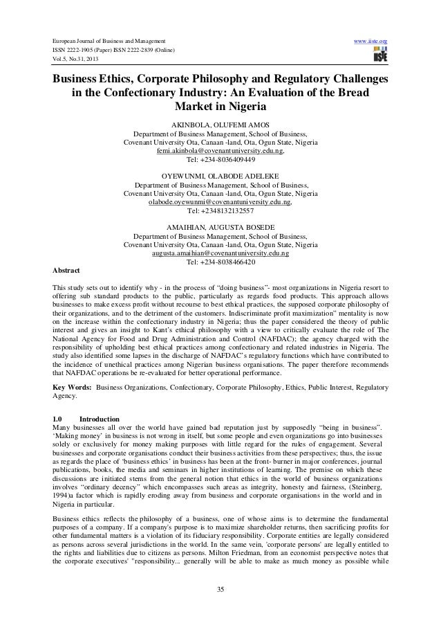 European Journal of Business and Management ISSN 2222-1905 (Paper) ISSN 2222-2839 (Online) Vol.5, No.31, 2013  www.iiste.o...