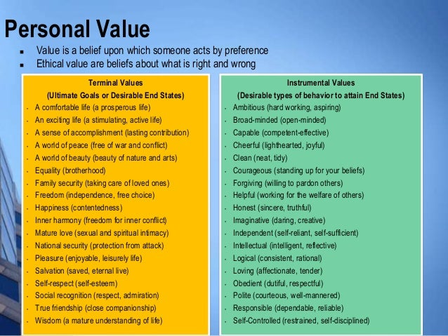 personal values and decision making How values affect decisions in personal and professional life shaundrea sager university of phoenix abstract many people have a set of core values, either personal, organizational, or.