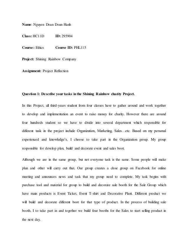 Business Ethical Reflection Essay Structure - Essay for you