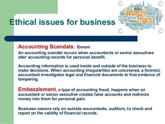 enron accounting ethics The recent mega-bankruptcies of enron, worldcom and the actions of their  outside auditors and the cases of martha stewart, dennis kozlowski.