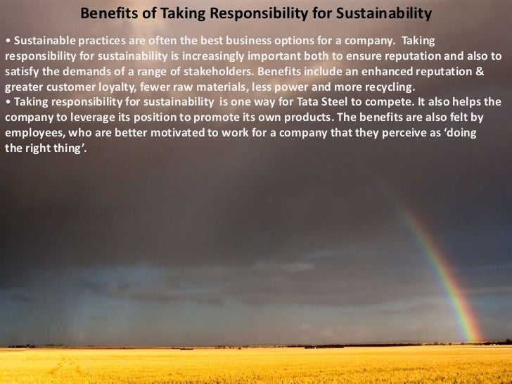 tata steel business ethics and sustainability Tata steel limited: convertible alternative reference securities case solution,tata steel limited: convertible alternative reference  sustainability tata steel.