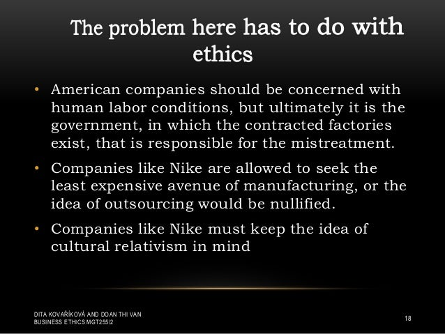 business ethics of nike inc Free essay: 10 introduction ethics, also known as moral philosophy that can be defined in basic term as what is right or wrong in humans' morality the.