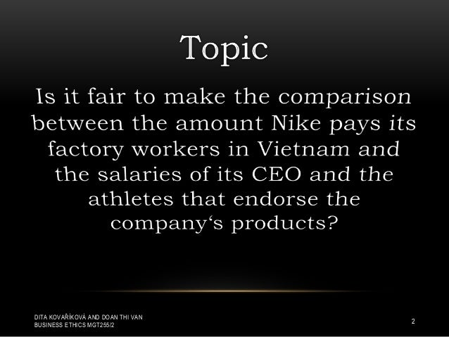 unethical issues about nike