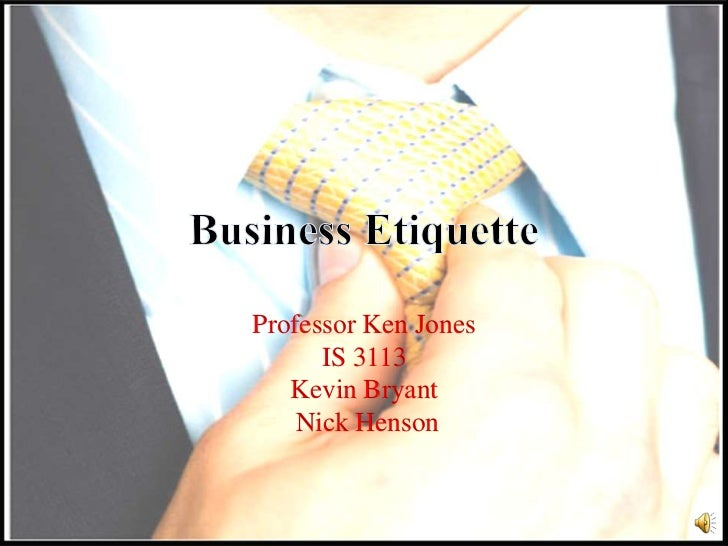 Professor Ken Jones      IS 3113   Kevin Bryant    Nick Henson