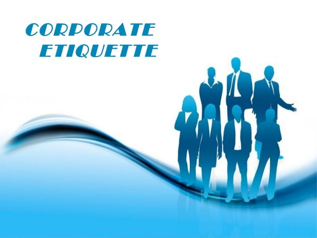 CORPORATE ETIQUETTE  Free Powerpoint Templates  Page 1
