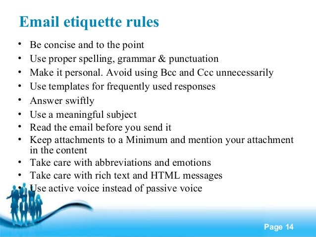 email etiquette template