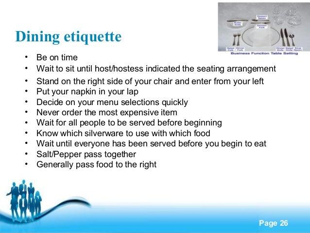 Business etiquette 26 dining etiquette reheart Images