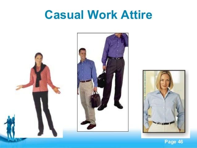 business etiquette, Presentation templates