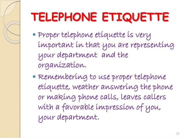 36; 37. TELEPHONE ETIQUETTE ...  sc 1 st  SlideShare & Business etiquette