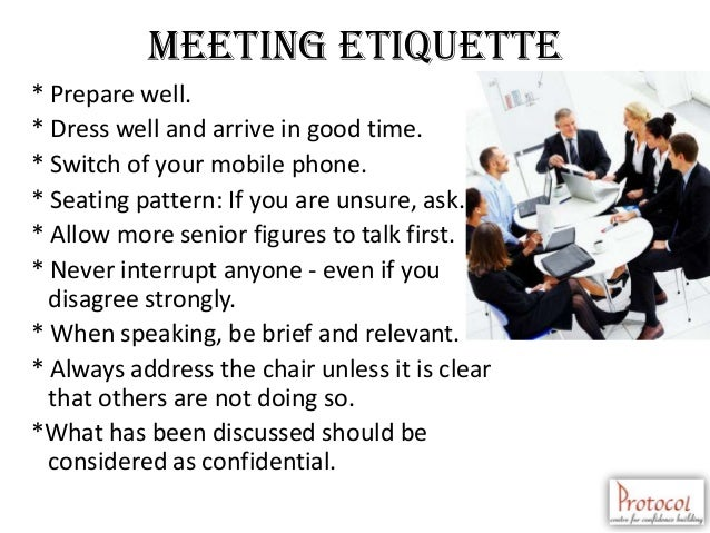 Meeting Room Etiquette Guidelines