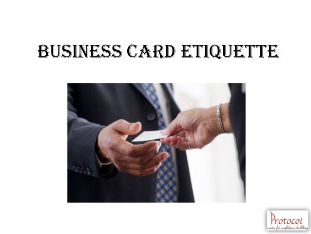 Business etiquette bosch 17 business card reheart Choice Image
