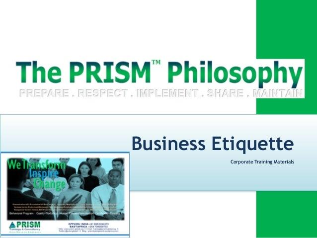 Business Etiquette Diploma