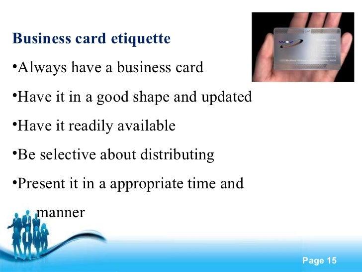 Corporate Etiquette