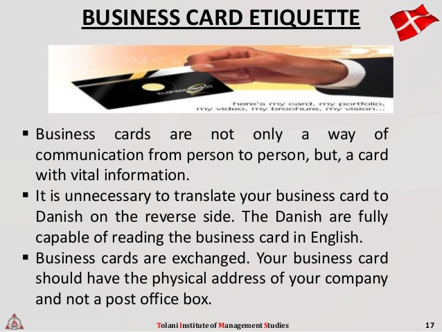 Business ettiquetes in denmark tolani institute of management studies 17 22 reheart Choice Image