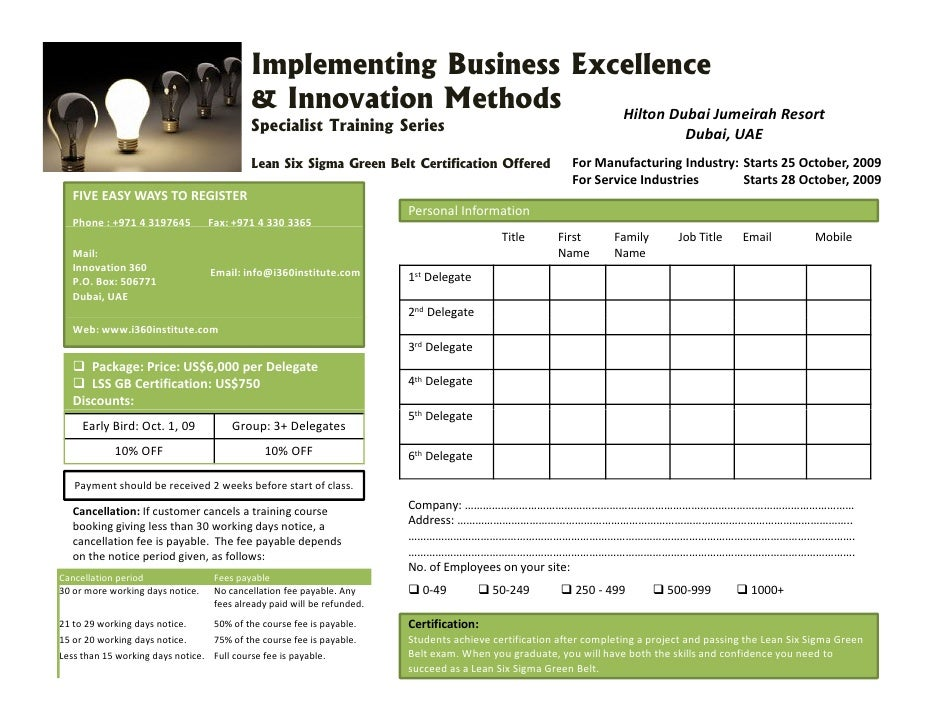 Six Sigma Training And Certification Dubai Uae Lean 6 Mandegarfo