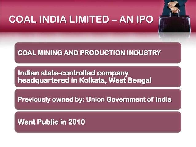 Coal india limited ipo