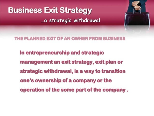 business exit strategy presentation