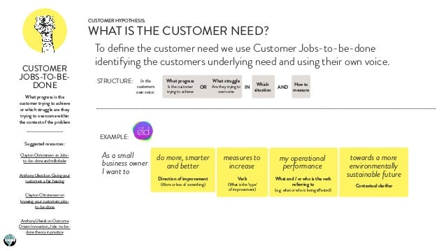 What progress is the customer trying to achieve or which struggle are they trying to overcome within the context of the pr...