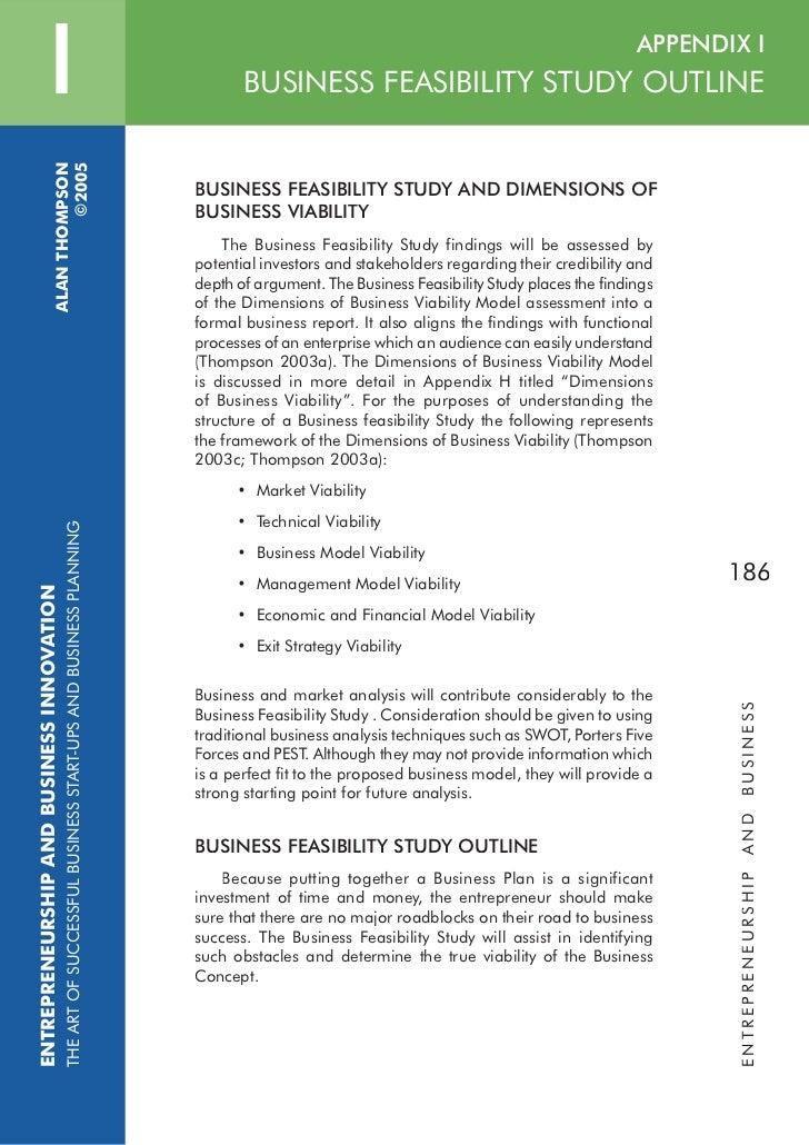 Feasibility Study Outline | Agricultural Marketing ...